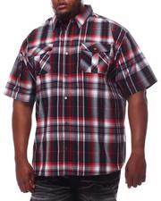 Button-downs - Yarn Dyed Plaid Short Sleeve Shirt (B&T)-2609805
