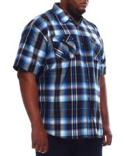 Button-downs - Yarn Dyed Plaid Short Sleeve Shirt (B&T)-2609809