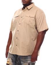 Button-downs - Solid Woven Short Sleeve Shirt (B&T)-2609813