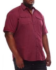 Shirts - Polka Dot Woven Button Up Shirt (B&T)-2614292