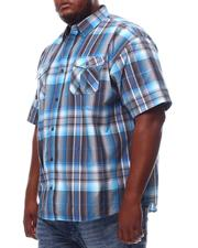 Button-downs - Yarn Dyed Plaid Short Sleeve Shirt (B&T)-2619267