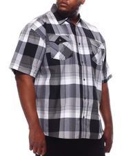 Button-downs - Yarn Dyed Plaid Short Sleeve Shirt (B&T)-2619271