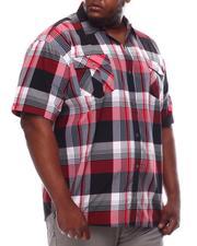 Button-downs - Yarn Dyed Plaid Short Sleeve Shirt (B&T)-2619275