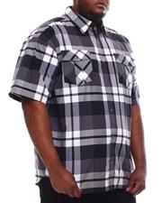 Button-downs - Yarn Dyed Plaid Short Sleeve Shirt (B&T)-2619279