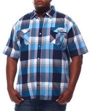 Button-downs - Yarn Dyed Plaid Short Sleeve Shirt (B&T)-2619283