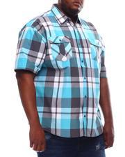 Button-downs - Yarn Dyed Plaid Short Sleeve Shirt (B&T)-2619287
