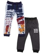 Arcade Styles - 2 Pack Solid & Printed Jogger Pants (4-7)-2606927