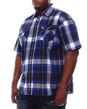 Button-downs - Yarn Dyed Plaid Short Sleeve Shirt (B&T)-2609785