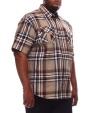 Button-downs - Yarn Dyed Plaid Short Sleeve Shirt (B&T)-2609789