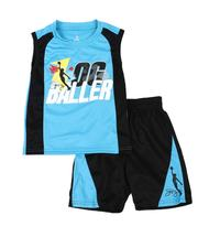 Sets - 2 Pc Graphic Tank & Mesh Pieced Shorts Set (4-7)-2618838