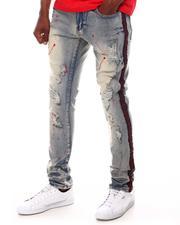 Buyers Picks - Rip and Repair Paint Splatter Jean w Rhinestone Side Tape-2617670