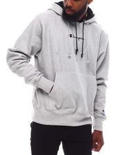 REVERSE WEAVE PULLOVER DOUBLE HOODIE