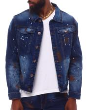 Denim Jackets - Paint Splatter Airbrushed Denim Jacket-2617739