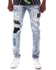 Slim - STRIPE PATCHED JEAN-2618092