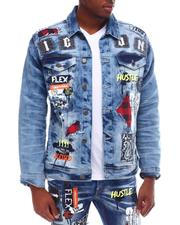 Copper Rivet - Bandana Patch Denim Jacket-2617893