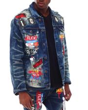 Denim Jackets - Bandana Patch Denim Jacket-2617919