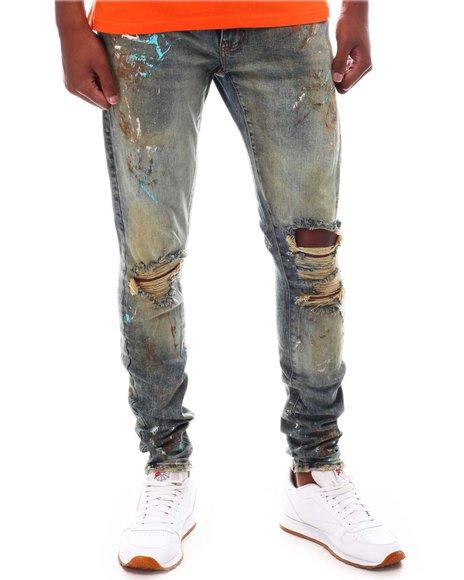 Jordan Craig - Desert Storm Distressed Paint Splatter Jean