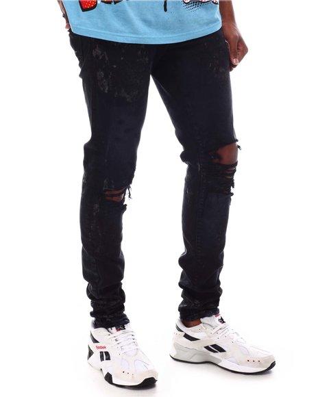 Jordan Craig - Triple Black Distressed Paint Splatter Jean