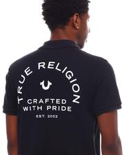 CRAFTED W PRIDE POLO
