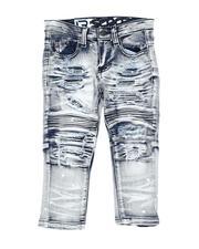 Arcade Styles - Rip & Repair Stretch Moto Jeans (2T-4T)-2621146