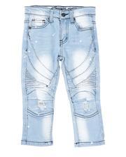 Arcade Styles - Stretch Paint Splatter Moto Jeans (2T-4T)-2621178