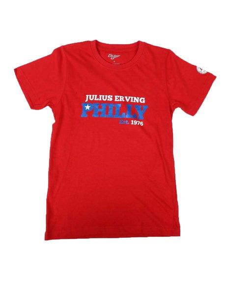 Dr.J-Julius Erving - Screen And Foil Print T-Shirt (8-20)