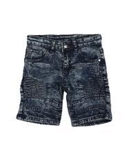 Phat Farm - Cut & Sew Stretch Moto Denim Shorts (4-7)-2621215