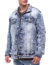 Denim Jackets - Distressed Denim Jacket-2616070