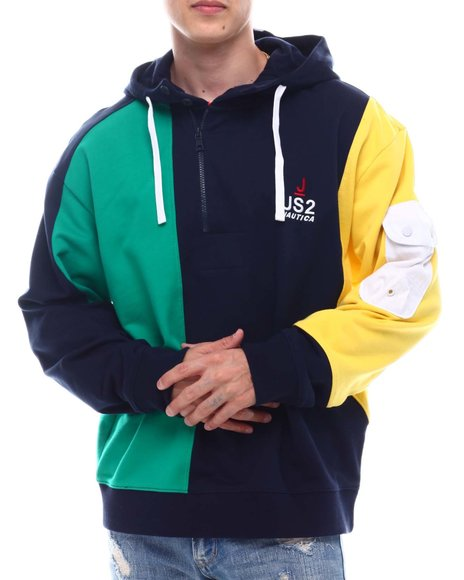 Nautica - Blocked Half Zip Hood