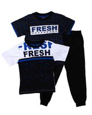 Sets - 3 Pc Fresh AOP Tee, Color Block & Jogger Pants Set (4-7)-2613415