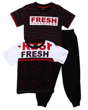 Sets - 3 Pc Fresh AOP Tee, Color Block & Jogger Pants Set (4-7)-2613419