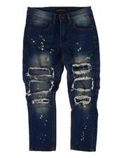 Jeans - Rip & Repair Moto Jeans (8-18)-2612745