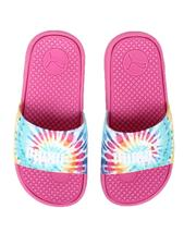 Girls - Cool Cat Tie Dye PS Slides (11-3)-2622457