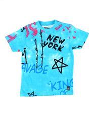 Phat Farm - All Over Graffiti Print Tee (8-20)-2611646