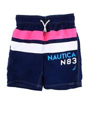 Swimwear - Color Block Swim Trunks (8-20)-2613351