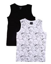 Arcade Styles - 2 Pack Solid & Printed Tank Tops (8-18)-2606729