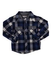 Button-downs - Plaid Long Sleeve Button Down Shirt (4-7)-2607839