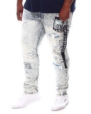 SMOKE RISE - Rip & Repair Patched Denim Jeans (B&T)-2620810