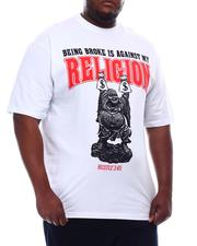 Big & Tall - Being Broke Against My Religion T-Shirt (B&T)-2621023