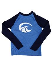 Swimwear - Two Tone Long Sleeve Rashguard Top (8-20)-2613411