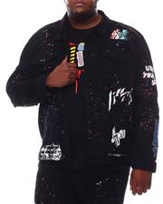 SMOKE RISE - Demon Graphic Denim Jacket (B&T)-2620071