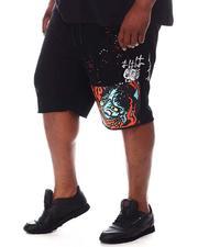 SMOKE RISE - Demon Fleece Shorts (B&T)-2620836