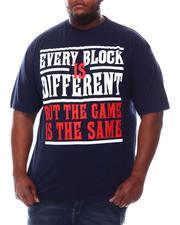 Big & Tall - Different Block Same Game T-Shirt (B&T)-2622218