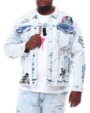 SMOKE RISE - Demon Graphic Denim Jacket (B&T)-2619533