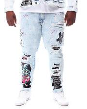 SMOKE RISE - Demon Graphic Denim Jeans (B&T)-2619518