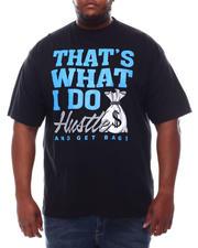 Big & Tall - Hustle And Get Bags  T-Shirt (B&T)-2621999