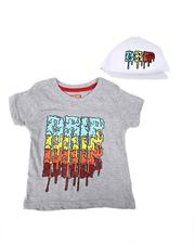 Sets - 2 Pc Drip Repeat Print Tee & Snapback Cap Set (4-7)-2621072