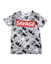 T-Shirts - Savage Newspaper Print Tee (8-18)-2621267
