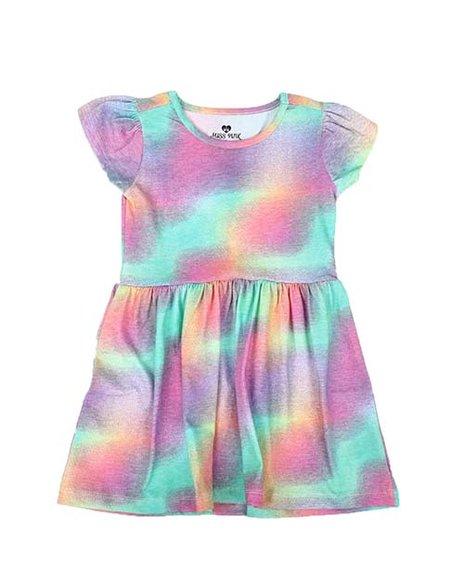 La Galleria - Tie Dye Cap Sleeve Dress (4-6X)