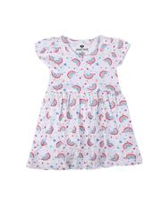 Infant & Newborn - Rainbow Print Cap Sleeve Dress (Infant)-2621276